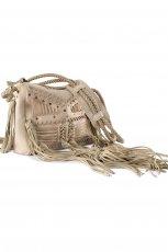 torebka H&M z fr�dzlami w kolorze be�owym - modne torebki