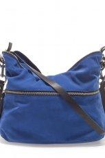 kobaltowa torebka ZARA - torebki na lato