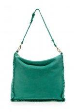 zamszowe torebka ZARA w kolorze turkusowym - torebki na lato