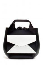 elegancka torebka ZARA w kolorze bia�o-czarnym - torebki na lato