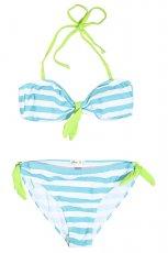 bia�o-niebieskie bikini House w paski - modne stroje k�pielowe