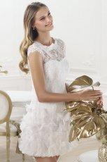 suknia �lubna Pronovias z koronk� kr�tka