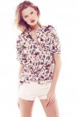 zwiewna koszula Mango w kwiaty - lato 2013