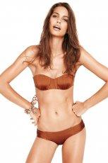 po�yskliwe bikini Oysho w kolorze br�zowym - lato 2013
