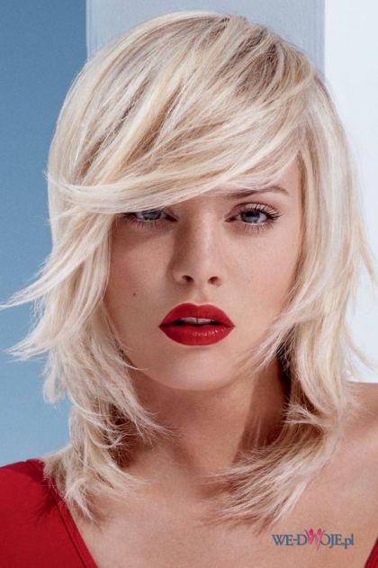 Cieniowane w�osy do ramion - propozycja dla blondynek