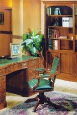 Awangardowe biurko w kolorze br�zu z zielonym wyko�czeniem - design na 2013