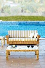 Nowoczesny ratanowy wypoczynek ogrodowy w kolorze ecru  - marka Patt Mebel