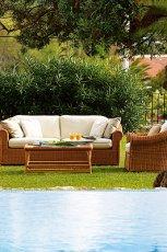 Urzekaj�cy ratanowy wypoczynek ogrodowy w kolorze ecru  - marka Patt Mebel