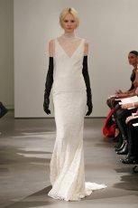 bia�a suknia �lubna Vera Wang koronkowa