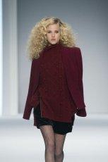 bordowy sweter F&F - pokaz jesie�/zima 2013