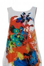 bia�a sukienka Solar w kwiaty - letnie trendy