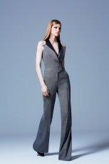 kombinezon Elie Saab w kolorze szarym - moda na zim� 2013/14