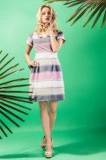 sukienka Midori w pasy  - kolekcja letnia