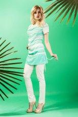 seledynowa tunika Midori w pasy  - lookbook na lato