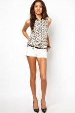 koszula Asos we wzorki bez r�kaw�w - trendy letnie