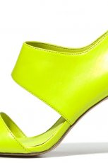 na szpilce sanda�ki C&A - w kolorze limonkowym