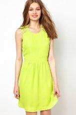 sukienka Asos - neonowa limonka