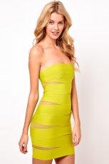 obcis�a sukienka Asos - neonowa limonka