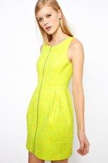 na zamek sukienka Asos - neonowa limonka