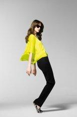 lu�na bluzka Benetton - limonka