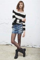 bia�o-czarny sweter Mango w pasy - jesie� 2013