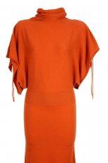 pomara�czowa sukienka Stefanel - trendy na jesie� 2013