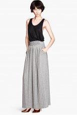 szara sp�dnica H&M maxi - moda na jesie� 2013