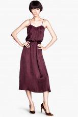 bordowa sukienka H&M - jesienne trendy 2013