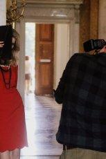sukienka Caterina w kolorze czerwonym - zima 2013/14