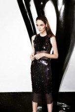 elegancka sukienka Simple w kolorze czarnym - moda na jesie� 2013