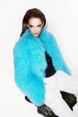 futro Simple w kolorze turkusowym - moda na zim� 2013/14