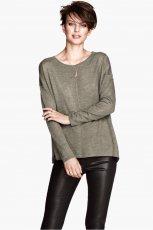 popielaty sweter H&M - kolekcja jesienna 2013