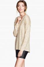 ecru sweter H&M - jesienne trendy 2013
