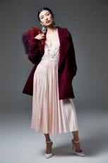 modny p�aszcz River Island w kolorze bordowym - moda 2013/14