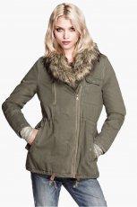 kurtka H&M w kolorze khaki - moda na jesie� 2013
