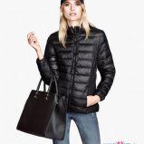 pikowana kurtka H&M w kolorze czarnym - moda na jesie� 2013