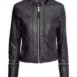 pikowana kurtka H&M w kolorze czarnym - jesie� i zima 2013/14