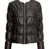 zimowa kurtka H&M w kolorze czarnym - moda na zim� 2013/14