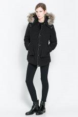 zimowa kurtka ZARA w kolorze czarnym - jesienna moda