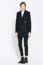 p�aszcz ZARA w kolorze czarnym - zimowa moda