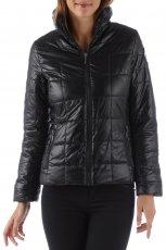 pikowana kurtka Camaieu w kolorze czarnym - jesie� i zima 2013/14
