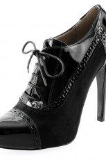 botki Prima Moda w kolorze czarnym - obuwie damskie