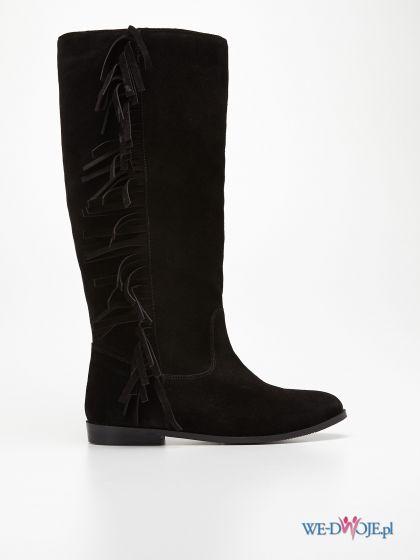 czarne kozaki Reserved - obuwie zimowe