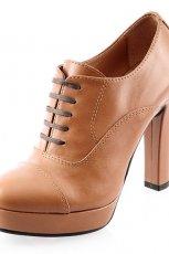 sk�rzane botki Prima Moda w kolorze br�zowym - modne buty dla kobiet