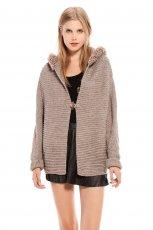 sweter Bershka w kolorze br�zowym - jesie� i zima 2013/14