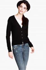 czarny sweter H&M - moda na jesie� 2013