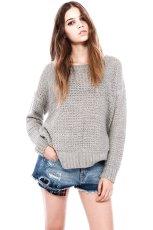 sweter Pull and Bear w kolorze szarym - zimowa moda