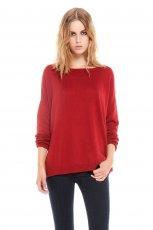 bordowy sweter Bershka - moda na zim� 2013/14