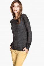 sweter H&M w kolorze popielatym - moda 2013/14