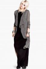 asymetryczny sweter H&M w kolorze szarym - moda 2013/14